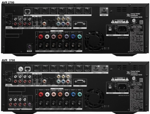 2700 and 3700 AV receivers