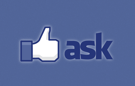 facebook button ask