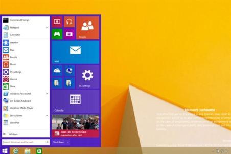 windows future start menu
