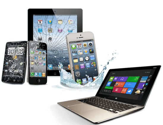 tablet pc and cell phone